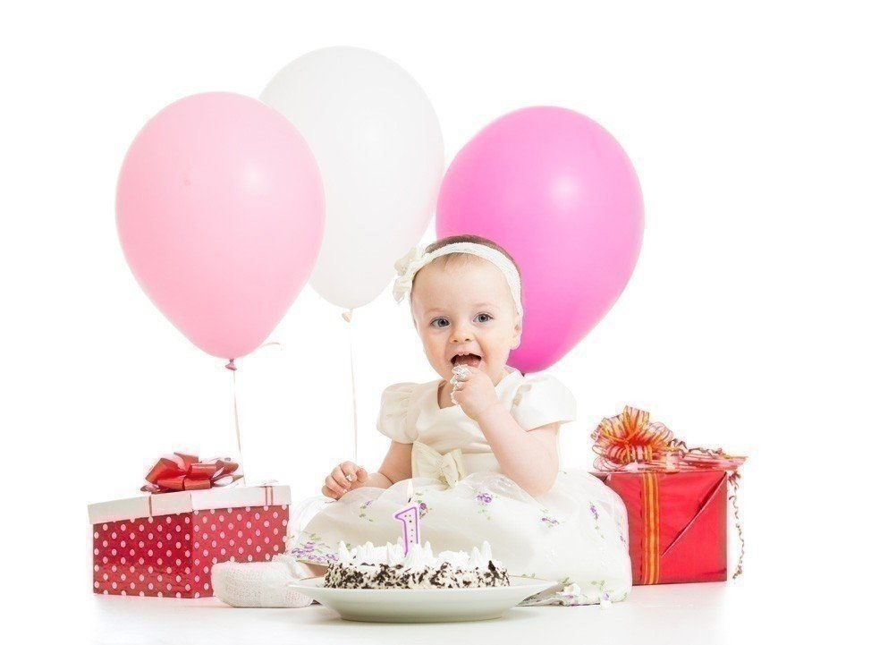 Оформление шарами на 1 годик
