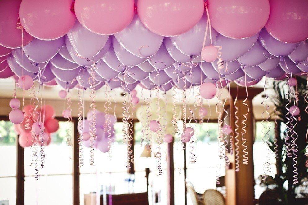 Украшение зала на свадьбу воздушными шарами