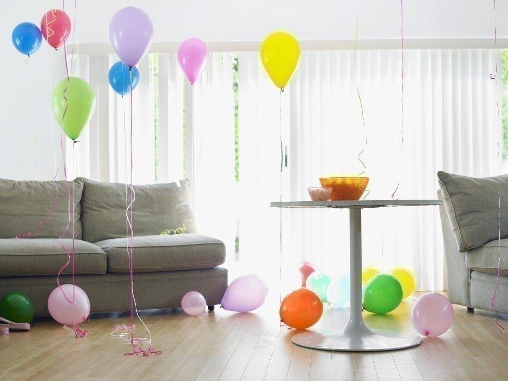 как украсить квартиру шарами фото
