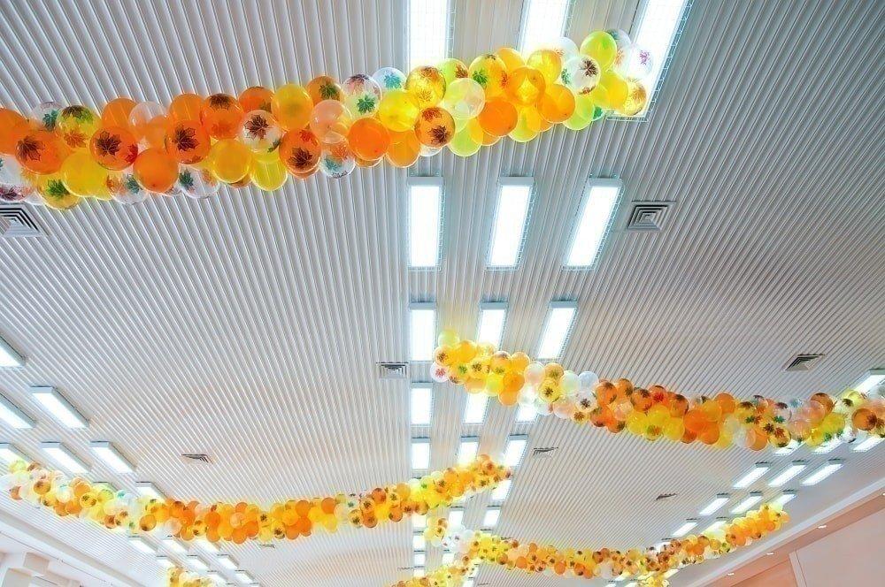 украшение шарами на выпускной в детском саду