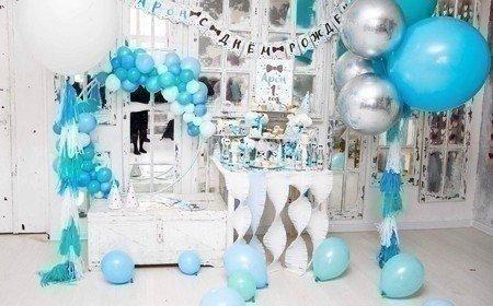 как красиво украсить комнату шарами фото