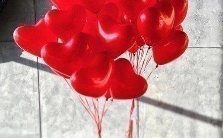 букет из воздушных шаров фото
