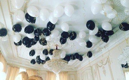 комната украшена шарами фото