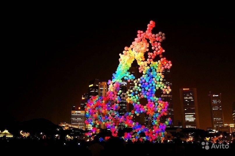 Светящиеся шарики 100шт( 3д подсветка )
