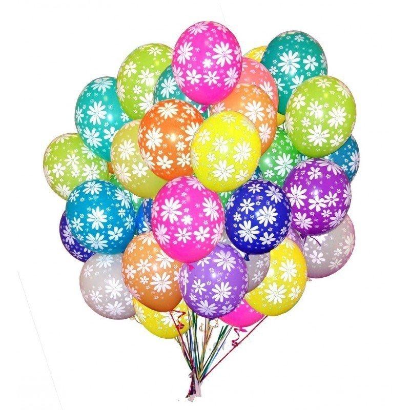 Облако шаров Полевые цветы 25 шт