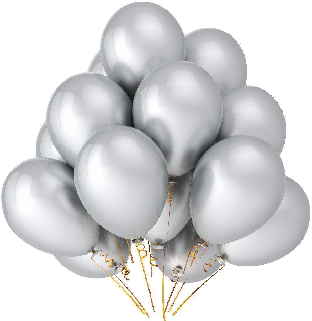 Облако серебряных шаров 25 шт