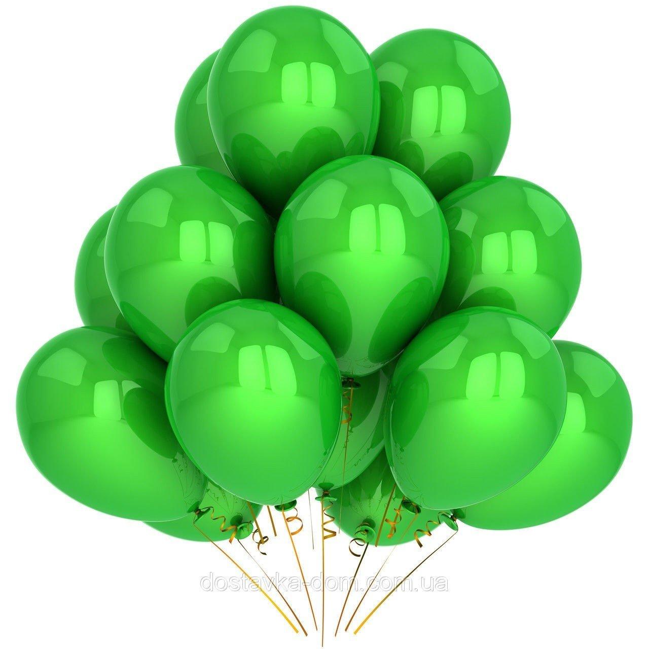 Облако зеленых шаров 25 шт