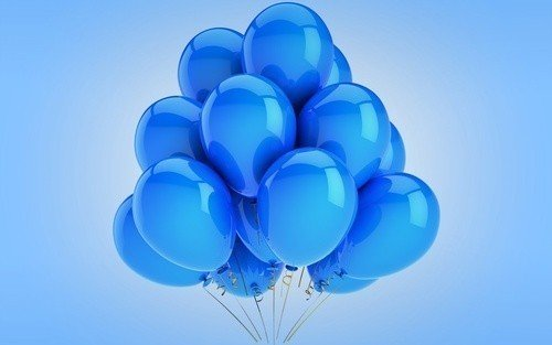 Облако синих шаров 25 шт