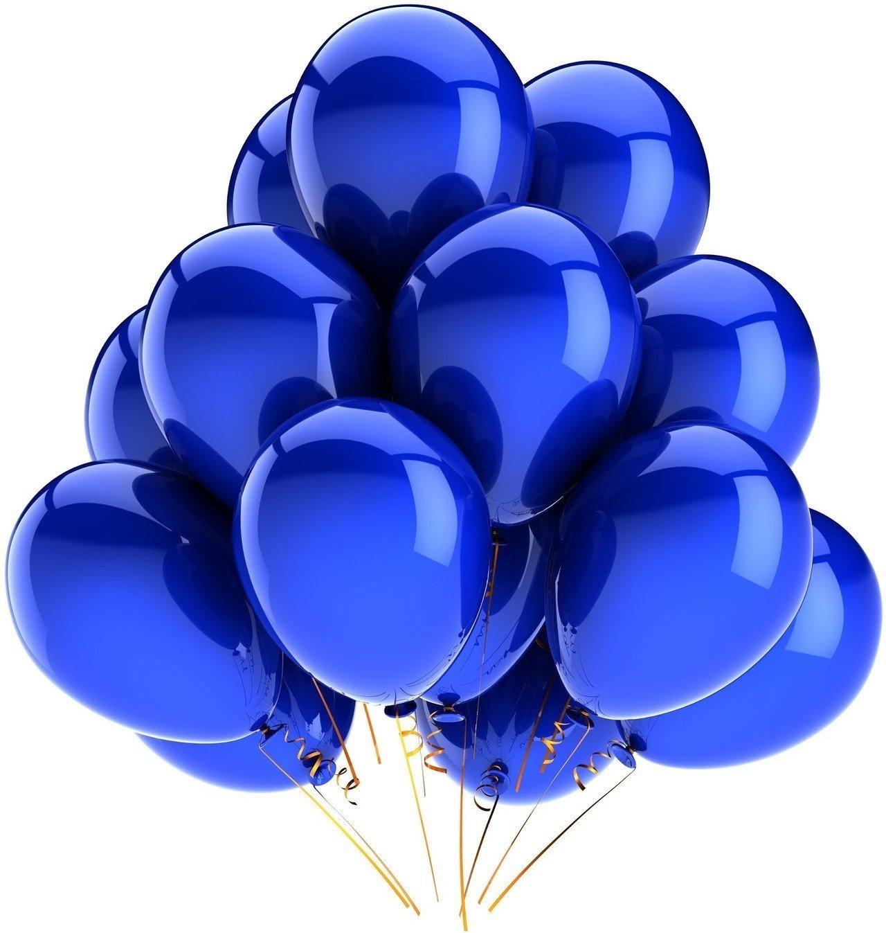 Облако синих шаров металлик 25 шт