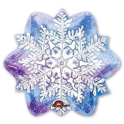 Шар фигура Новый год Снежинка 2