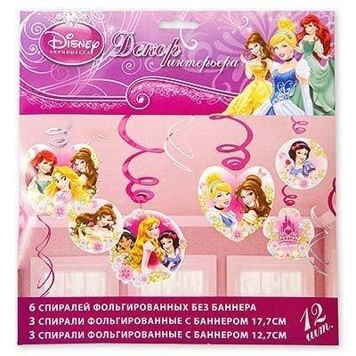 Спираль Disney Принцессы 46-60см, 12 шт