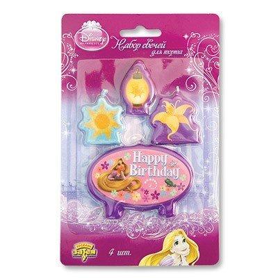 Свечи для торта Disney HB Рапунцель, 4шт