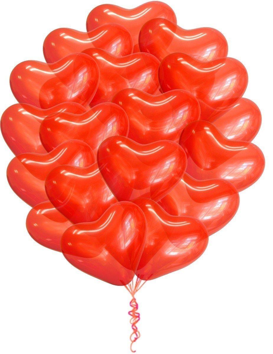 Облако шаров Сердца (38см) 25 шт