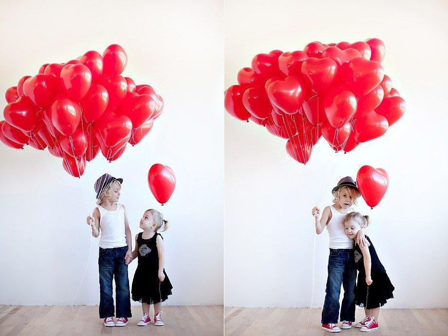 Облако шаров Сердца Маленькие 100 шт