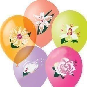 Облако шариков Цветы 50 шт