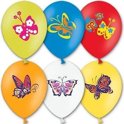 Облако шариков Бабочки 50 шт