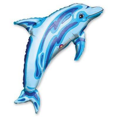 Шар фигура Дельфин синий