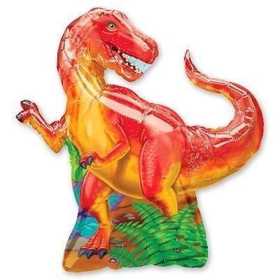 Шар фигура Динозавр красный