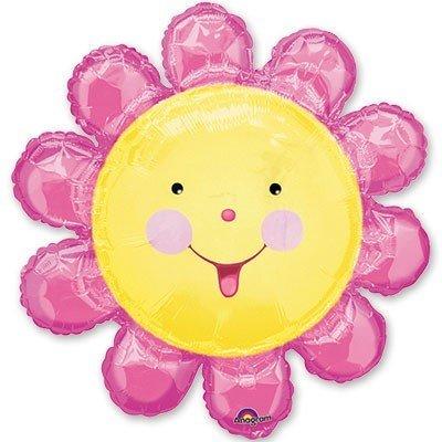 Шар фигура Цветок розовый