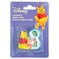 Свеча  цифра 8 Disney Винни