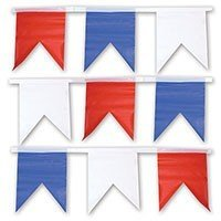 Гирлянда флаг бел син крас 1фл 1цв 10м
