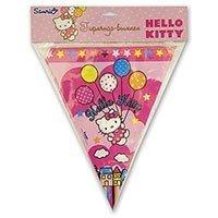 Гирлянда вымпел Hello Kitty  360 см