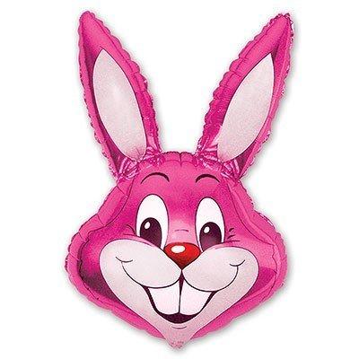 Шар фигура Кролик малиновый
