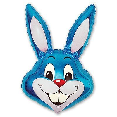 Шар фигура Кролик синий