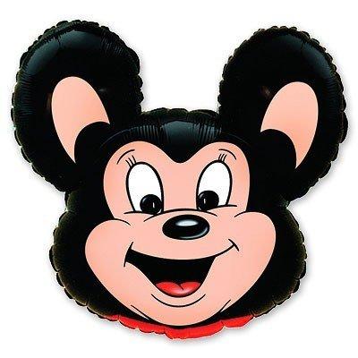 Шар фигура Майти Маус черный