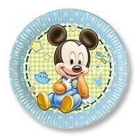 Тарелки большие Малыш Микки 8 штук