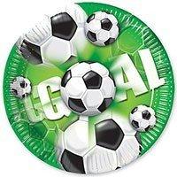 Тарелки большие Футбол зеленый 23 см