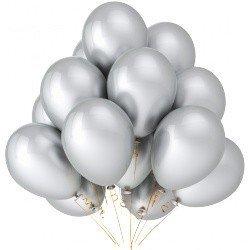 Облако серебряных шаров  50 шт