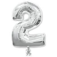Шар фигура цифра 2 Silver