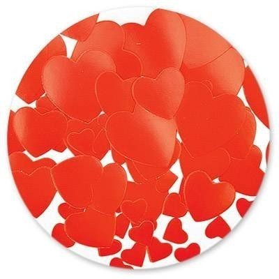 Конфетти бумага Сердца красные 56 гр