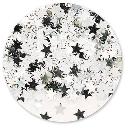 Конфетти Звезды серебряные 14 гр