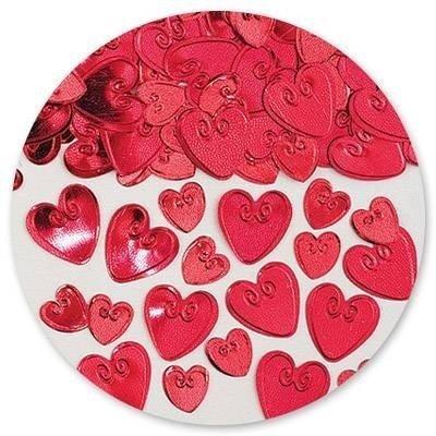 Конфетти Сердца с вензелем красн 14 гр