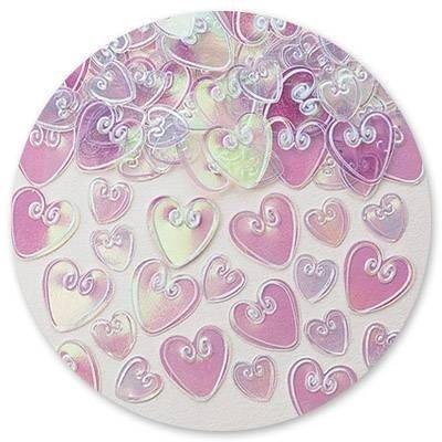 Конфетти Сердца с вензелем перл 14 гр