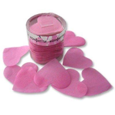 Конфетти Сердца бум негорящие розовые, 60 гр
