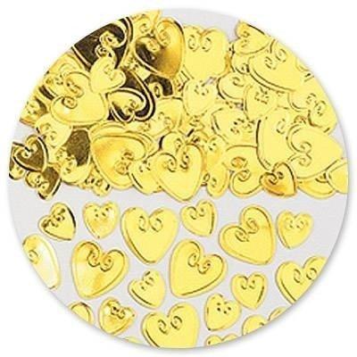 Конфетти Сердца с вензелем золот 14 гр