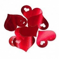 Конфетти сердца красные 17 гр