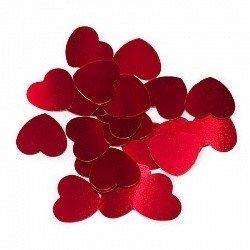 Конфетти сердца маленькие красные 17 гр
