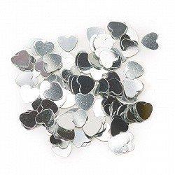 Конфетти маленькие сердечки серебро 17 гр