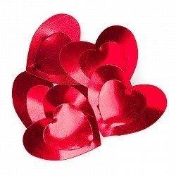 Конфетти большие сердца красные 17 гр