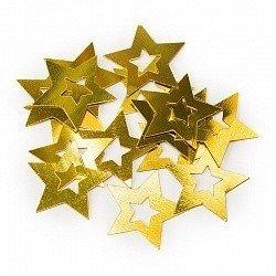 Конфетти звезда в звезде золото 17гр