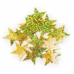 Конфетти звезды золото голография 17гр