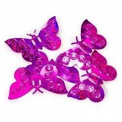 Конфетти бабочки фуше 17гр