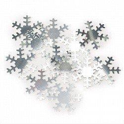 Конфетти снежинки серебро 17гр.