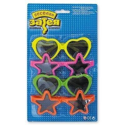 Очки солнцезащитные фигурные 4 шт