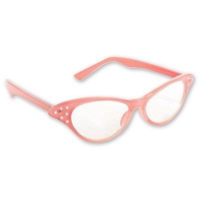 Очки Винтаж со стразами розовые