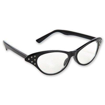 Очки Винтаж со стразами черные